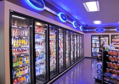 Northwest Pump supplied LED lighting for the interior of the store.