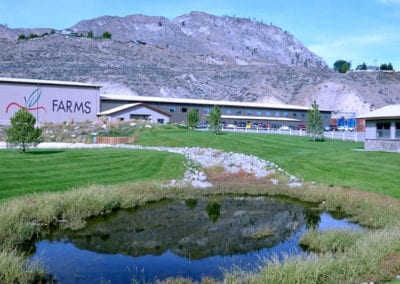 Gebbers Farms operates in both Chelan and Brewster, Washington, near the mountains of Washington's North Cascade Range, in the highlands of the Lake Chelan basin, and along the northern reaches of the Columbia River.