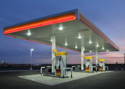 Northwest Pump supplied Cree LED lighting and CPY canopy fixtures and Gilbarco 700S Series dispensers.